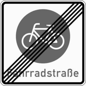 Fahrradstraße Ende Zeichen 244.2